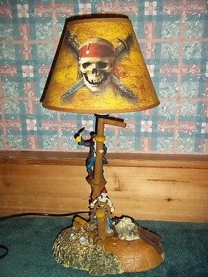 "Disney Pirates of the Carribean Table Lamp Music and Motion 21"" Jack Sparrow"