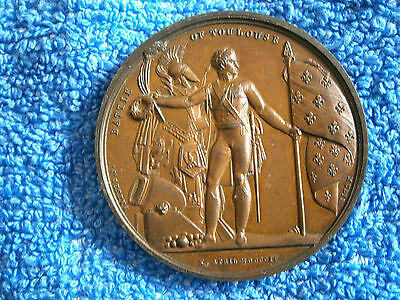 England:  Napoleonic Wars!!: Scarce 1820 Mudie Medal  Battle Of Toulouse (1815)