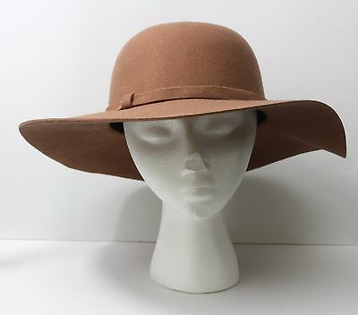 NWT Bakers Women's Brown Wool Fedora Hat One Size