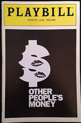 Other People's Money Playbill June 1990