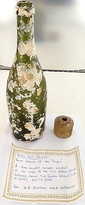 "1898 Shipwreck / Ship Wreck Of The ""Sepia"" Off West Australia, Bottle & Inkwell"