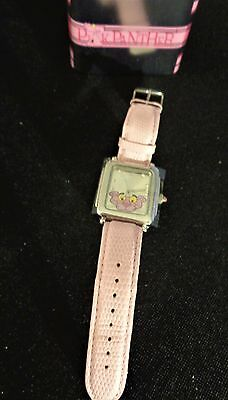 Ltd Ed PINK PANTHER 40th ANNIVERSARY WATCH in COLLECTOR'S TIN BY SHAG ~ NIB