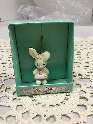 2 1994 Precious Moments 551724 Mini Moments Enesco Bunny Ornaments