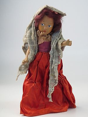 Antique Hand Painted Composition Doll