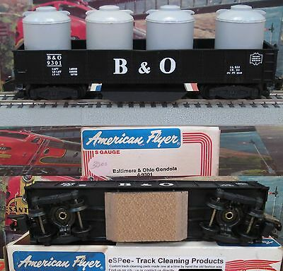 eSPee TRACK CLEANING GONDOLA CAR - American Flyer - Baltimore & Ohio - S Scale