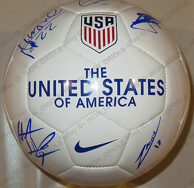 2017 USA US national team signed NIKE soccer ball 100% Authentic jersey PROOF