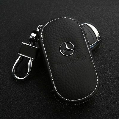 100% Genuine Leather Car Key Chain Holder Case coin Bag For Mercedes Benz Auto