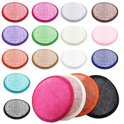 13cm DIY Sinamay Plain Millinery Base Costume Beret Fascinators Hat-Multi Color