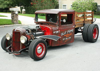 1934 Ford Model A CUSTOM DUALLY RATROD PICKUP EXCELLENT CUSTOM CHANNELED BUILD  - 1934 Ford Model A Ratrod Pickup