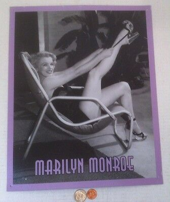 Marilyn Monroe Tin Picture, Norma Jean, 15 x 12, Made in USA, Sign of the Times