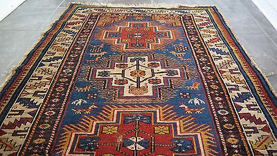 Very Rare Antique Caucasian Shirvan Hand Knotted Pile Rug C1900
