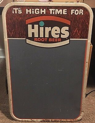 RARE Beautiful Vintage Hires Root Beer Soda Tin Chalkboard Sign!!!!
