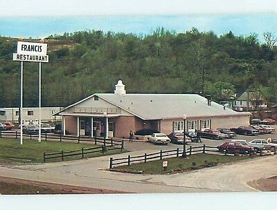 Unused Pre-1980 RESTAURANT SCENE Macksburg Ohio OH hk4639