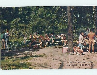 Unused Pre-1980 PARK SCENE Lakeside - Marblehead & Danbury Ohio OH hk6015