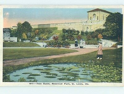 Unused W-Border PARK SCENE St. Louis Missouri MO hk8704