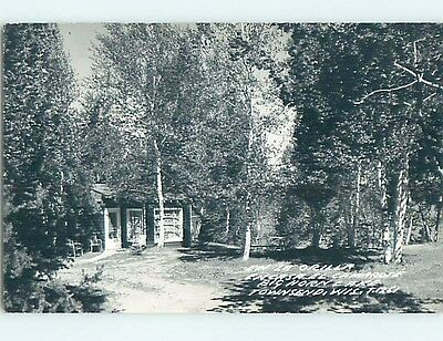 1952 rppc ENCASA COTTAGE AT BIG HORN LAKE Townsend Wisconsin WI HM2541