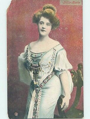 c1910 ACTRESS BILLIE BURKE - PLAYED THE GOOD WITCH IN THE WIZARD OF OZ HL4697