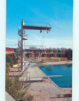 Pre-1980 HIGH DIVING BOARD AT SHAMROCK HILTON MOTEL Houston Texas TX HQ2879-13