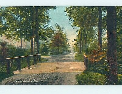 Divided-Back ROAD AND BRIDGE Englewood New Jersey NJ hk4090