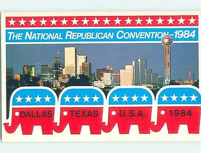 1984 Postcard Ad NATIONAL REPUBLICAN CONVENTION - RONALD REAGAN Dallas TX HM4359