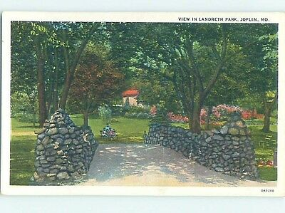 Unused W-Border PARK SCENE Joplin Missouri MO hk8661