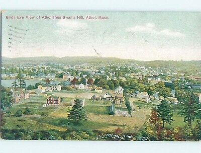 Damaged Divided-Back POSTCARD FROM Athol Massachusetts MA HM7402