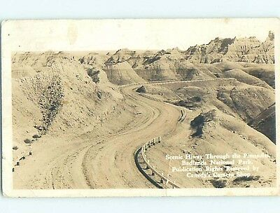 1937 rppc PINNACLES AT BADLANDS NATIONAL PARK Rapid City South Dakota SD HM2642