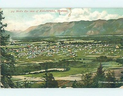 Edge Tear Divided-Back POSTCARD FROM Kalispell Montana MT HM6731
