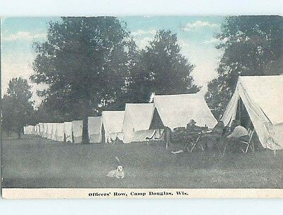 Divided-Back Military CAMP DOUGLAS Near Tomah Wisconsin WI HM7551