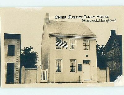 Old rppc CHIEF JUSTICE TANEY HOUSE Frederick Maryland MD HM3012