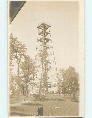 Pre-1918 rppc TALL METAL TOWER WITH STAIRCASE Hot Springs Arkansas AR HM3164