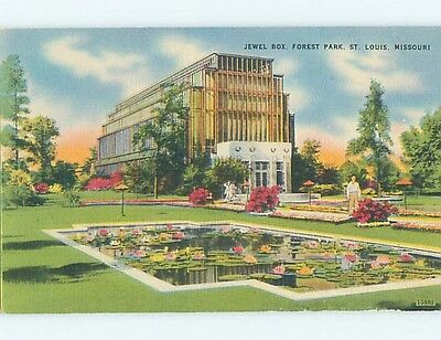 Unused Linen PARK SCENE St. Louis Missouri MO hk6472-12