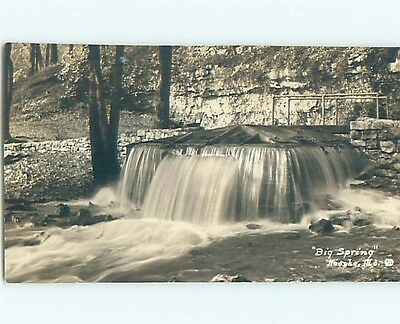 Pre-1930 rppc WATERFALL AT BIG SPRING Neosho Missouri MO HM3268