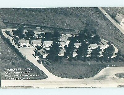 Old rppc CABINS AT ROCHESTER MOTEL Rochester Minnesota MN HM4076