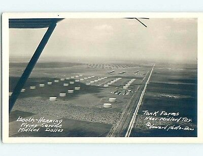 Pre-1942 rppc OIL TANK FARMS Midland Texas TX HM3444