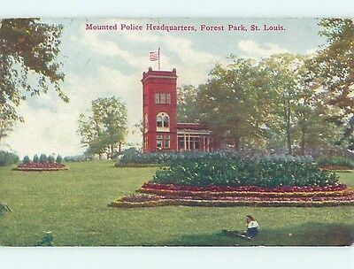 Divided-Back PARK SCENE St. Louis Missouri MO hk8585