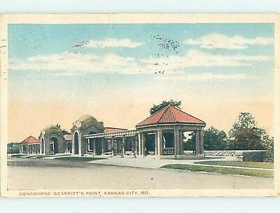 Damaged W-Border POSTCARD FROM Kansas City Missouri MO HM8530
