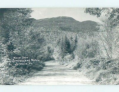 Old rppc ROAD TO SMUGGLERS NOTCH Stowe Vermont VT HM4072
