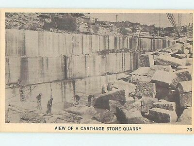 Unused Linen STONE QUARRY Carthage Missouri MO HM9278