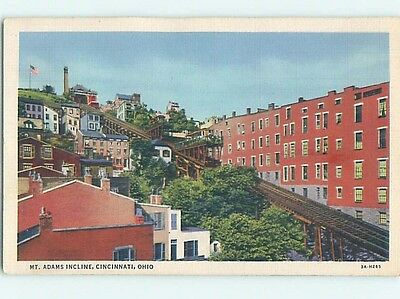 Unused Linen POSTCARD FROM Cincinnati Ohio OH HM9244