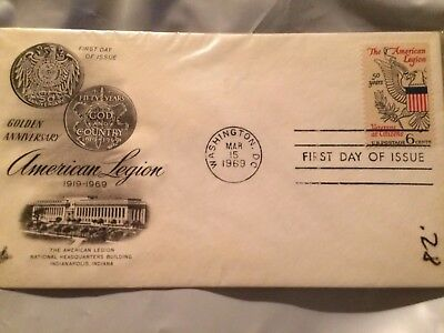 Vintage First Issue New Stamp American Legion Anniversary 1969