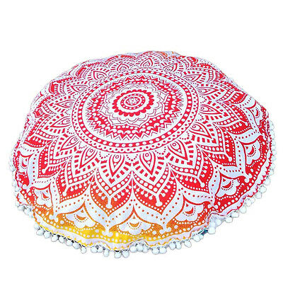 Indian Large Mandala Floor Pillows Round Bohemian Cushion Cushions Cover