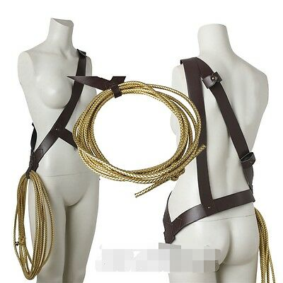 New v Superman Justice League Wonder Woman Diana Cosplay Belt Plus Rope