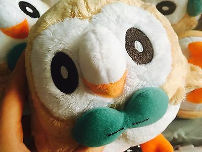 OFFICIAL Japan Pokemon Takara Tomy Soft Rowlet Plush Figure Doll toy
