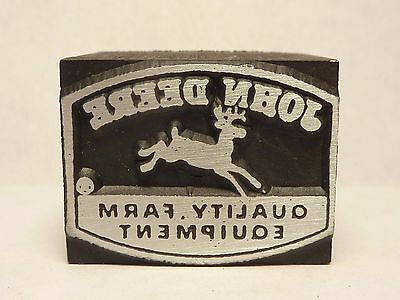 John Deere Logo Printer`s Block