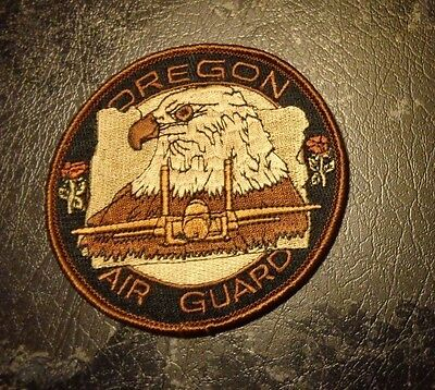 U.s.a.f Flight Suit Patch,123Rd Fighter Squadron,oregon Ang, Desert