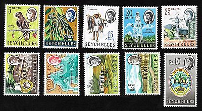 BRITISH INDIAN OCEAN TERRITORY SCOTT # 1-5/11-15 MNH #15 missing stop after B