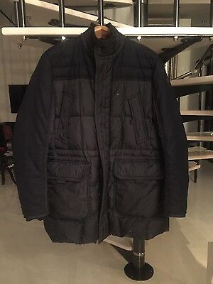 Men's navy blue Moncler winter jacket like new with receipt