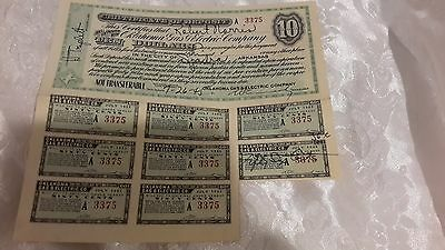 Vintage 1945 - Oklahoma Gas and Electric Company Certificate of Deposit