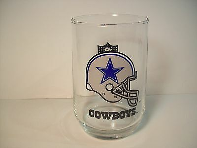 DALLAS COWBOYS CLEAR DRINKING GLASS NFL FOOTBALL COLLECTIBLE JUICE beverage CUP
